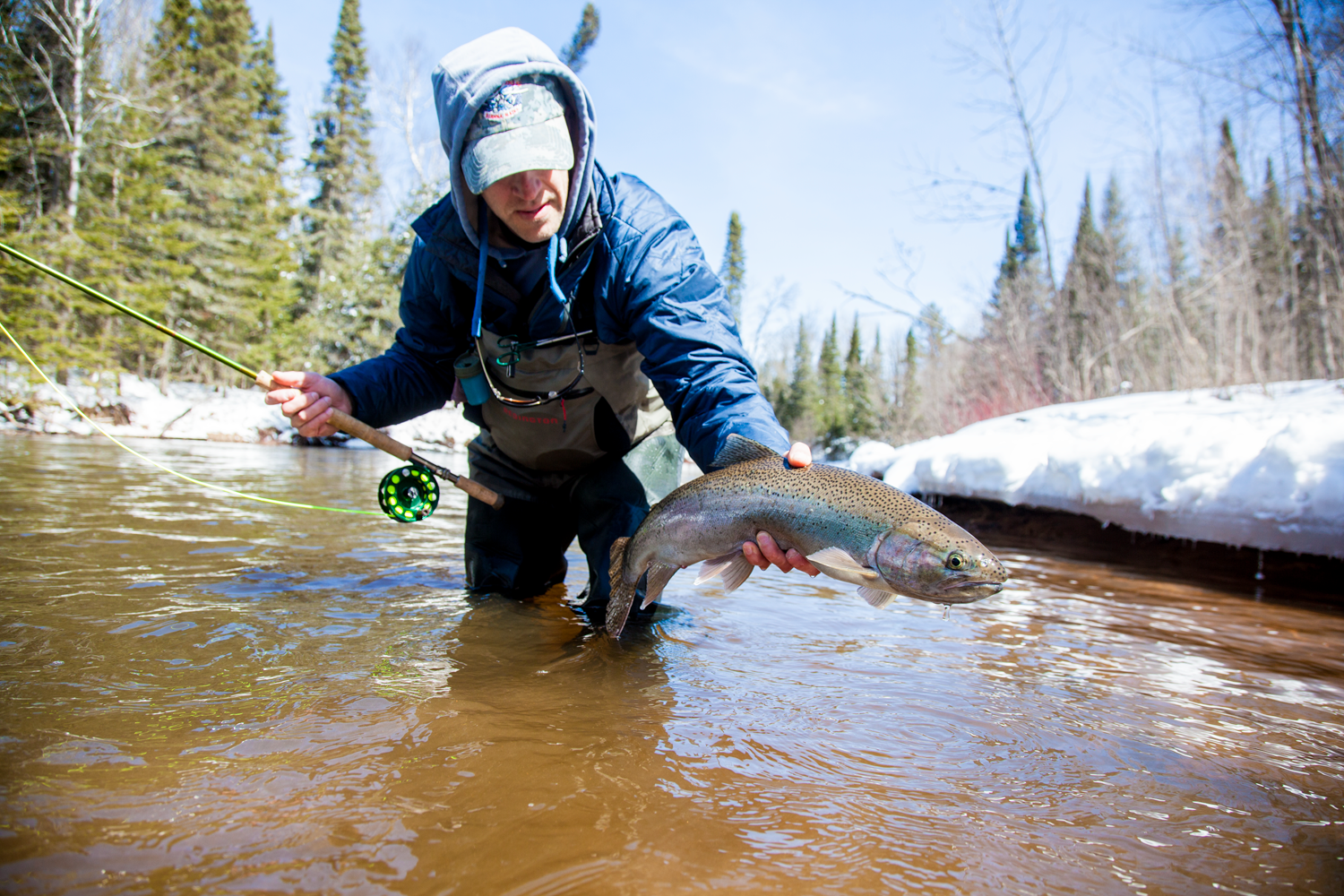 The Steelhead tribs open up soon and with most of our snowpack already gone, fishing should be good early this year.