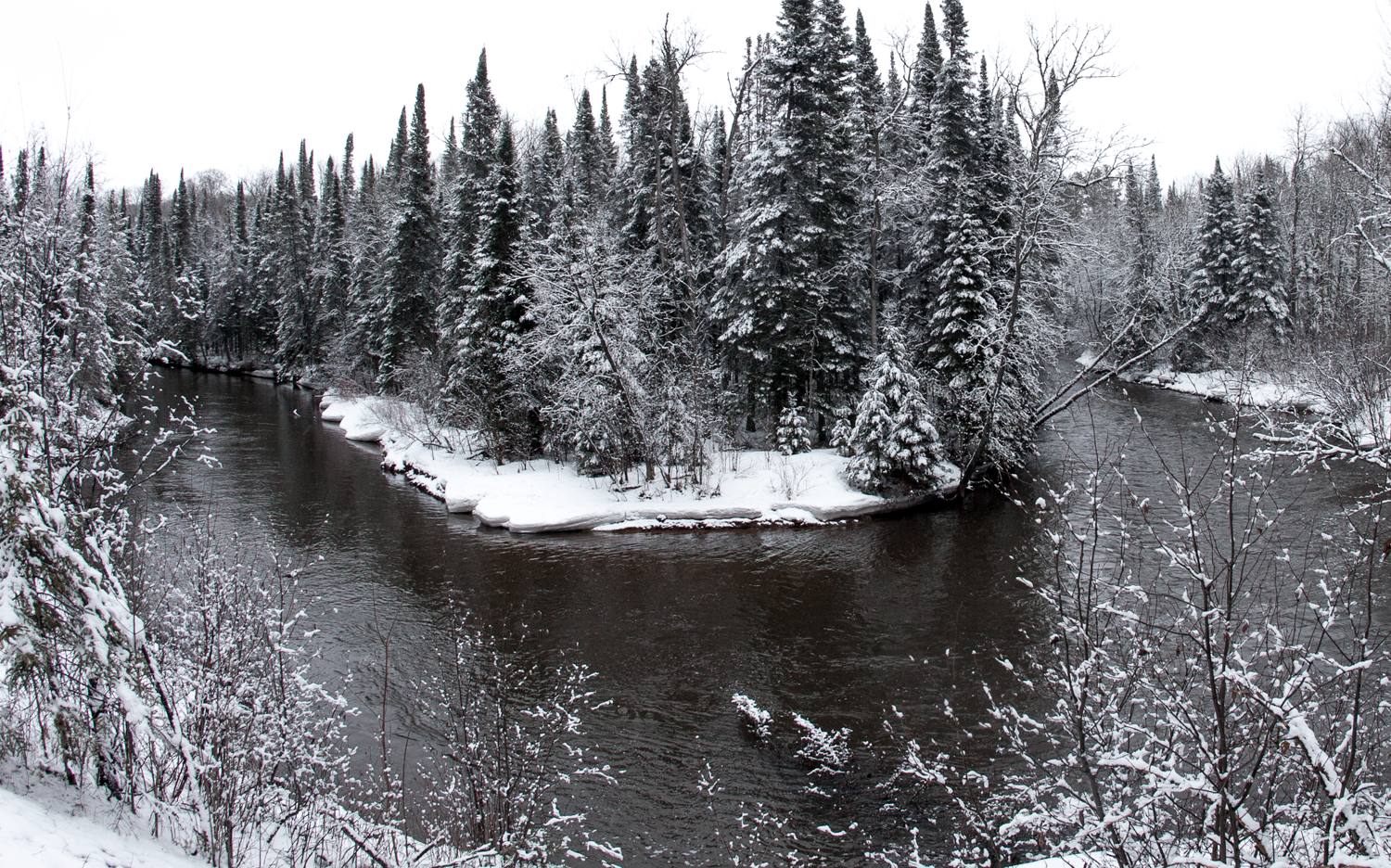 A picture perfect setting for a local Steelhead river.