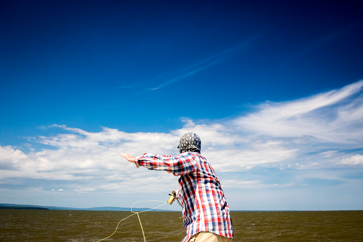 Fishing on the Bay usually means fishing in the wind.