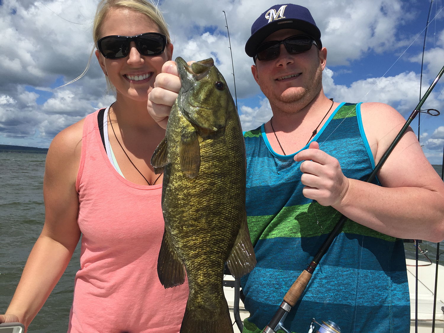 Elizabeth and Zach have been fishing the Bay for quite some time and came out with us for a day of summer fishing.  Great day guys and hope to see you again soon!