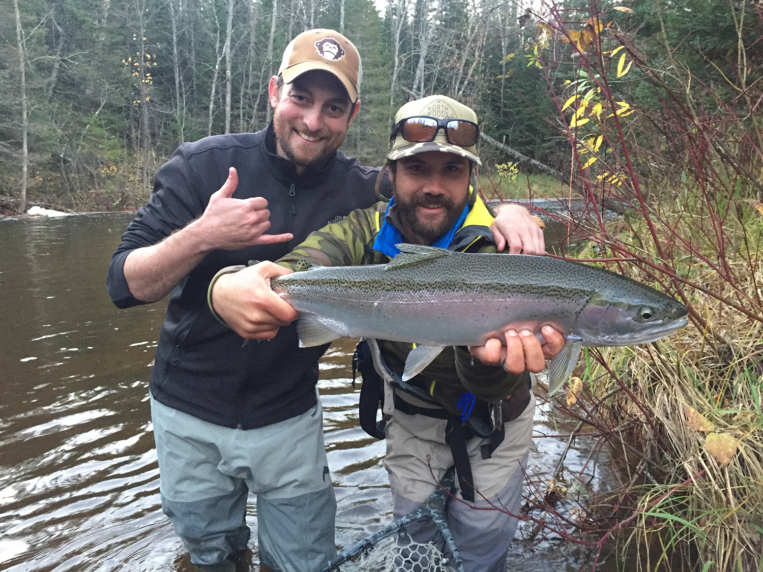 Matt got into this great Steelhead on his second cast of the morning.