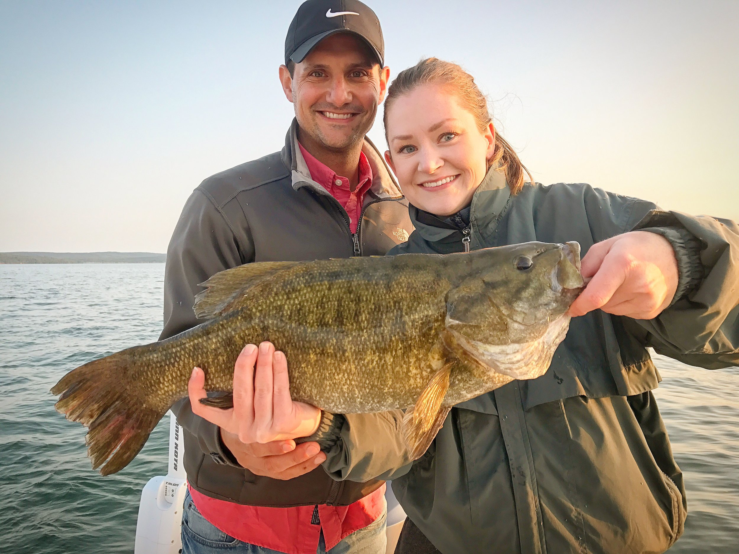 Brandon and Christa from California spent a day on the water and put some very nice fish in the boat including this fish.  22 inchers are very rare on the Bay, but this one made the cut.  Very cool to see.