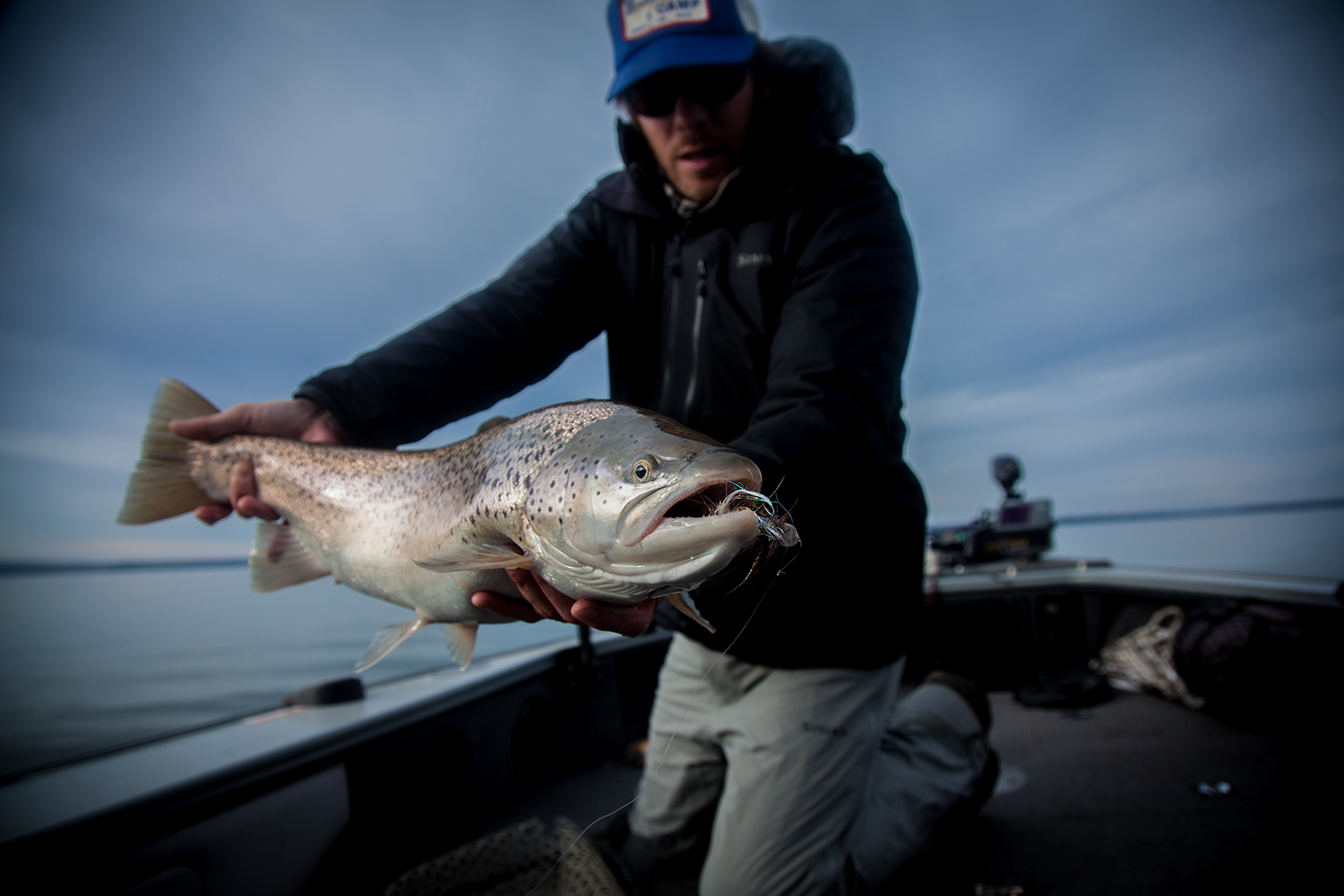 Lots of big browns around right now. The late season is some of the best fishing of the year on the big lake.