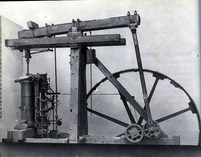 Steam engine, James Watt, 1763-75.