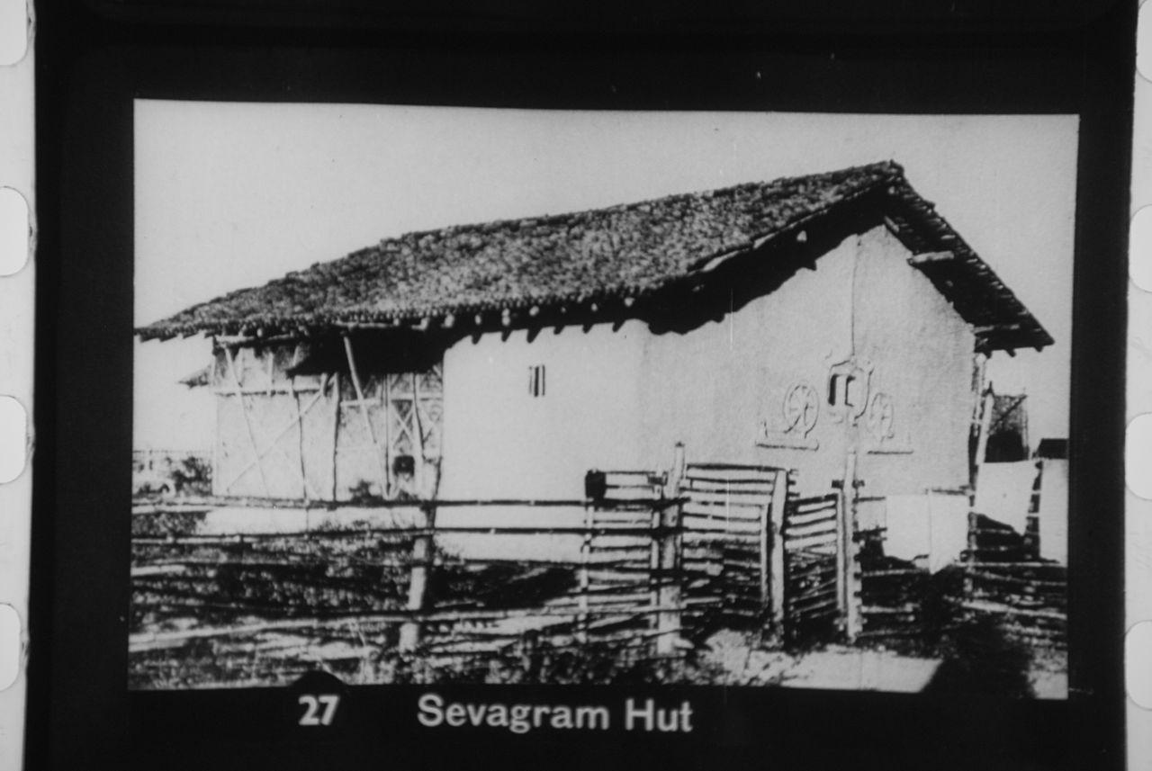 Gandhi's hut.
