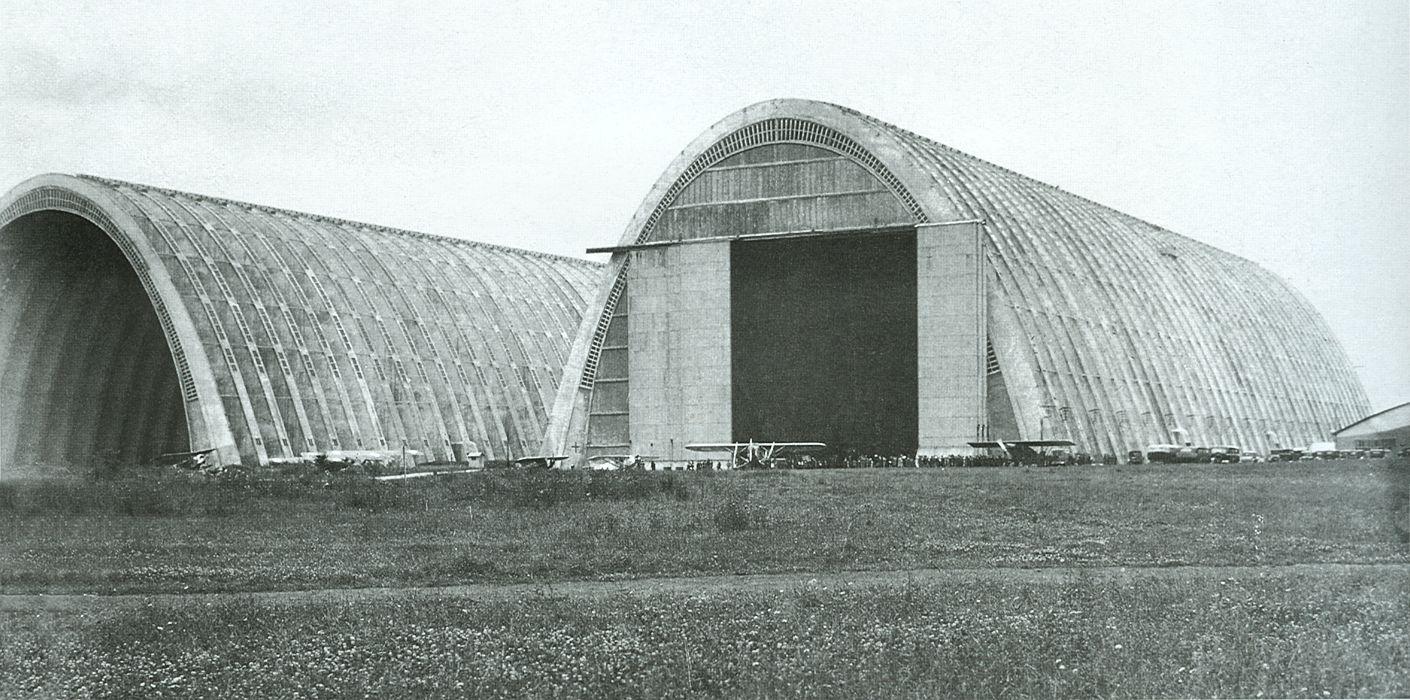 Zeppelin hangars, Eugene Freyssinet, Orly, 1921.
