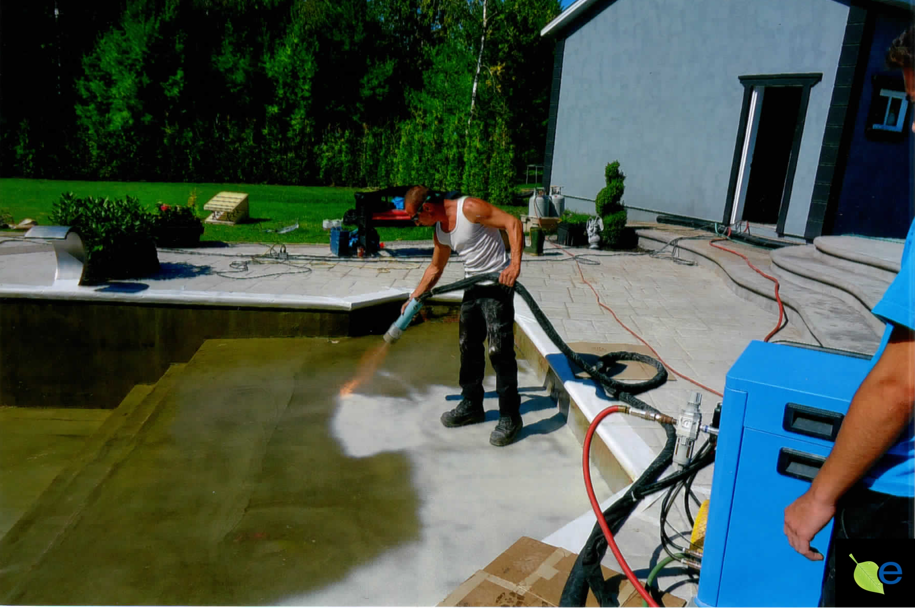 first flock coat impales aquaBright into epoxy for excellent adherence. Click to Find out How to Become an Installer.