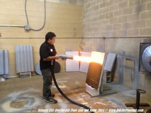 Moses shows us how to install two different colours of aquaBright for stencil application