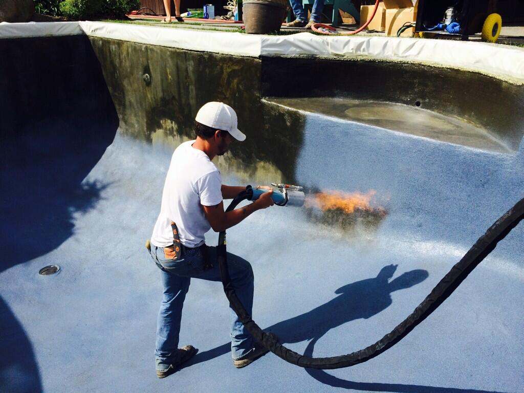 ecoFinish Thermoplastic Spray System in use