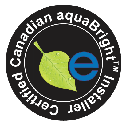 Certified Canadian aquaBright installer Seal of approval