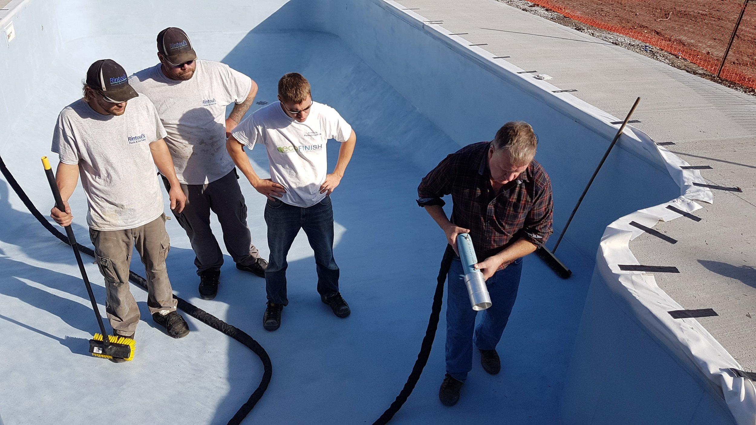 Canada Pool Coating Mike Cleary & Ontario Pool Coating team
