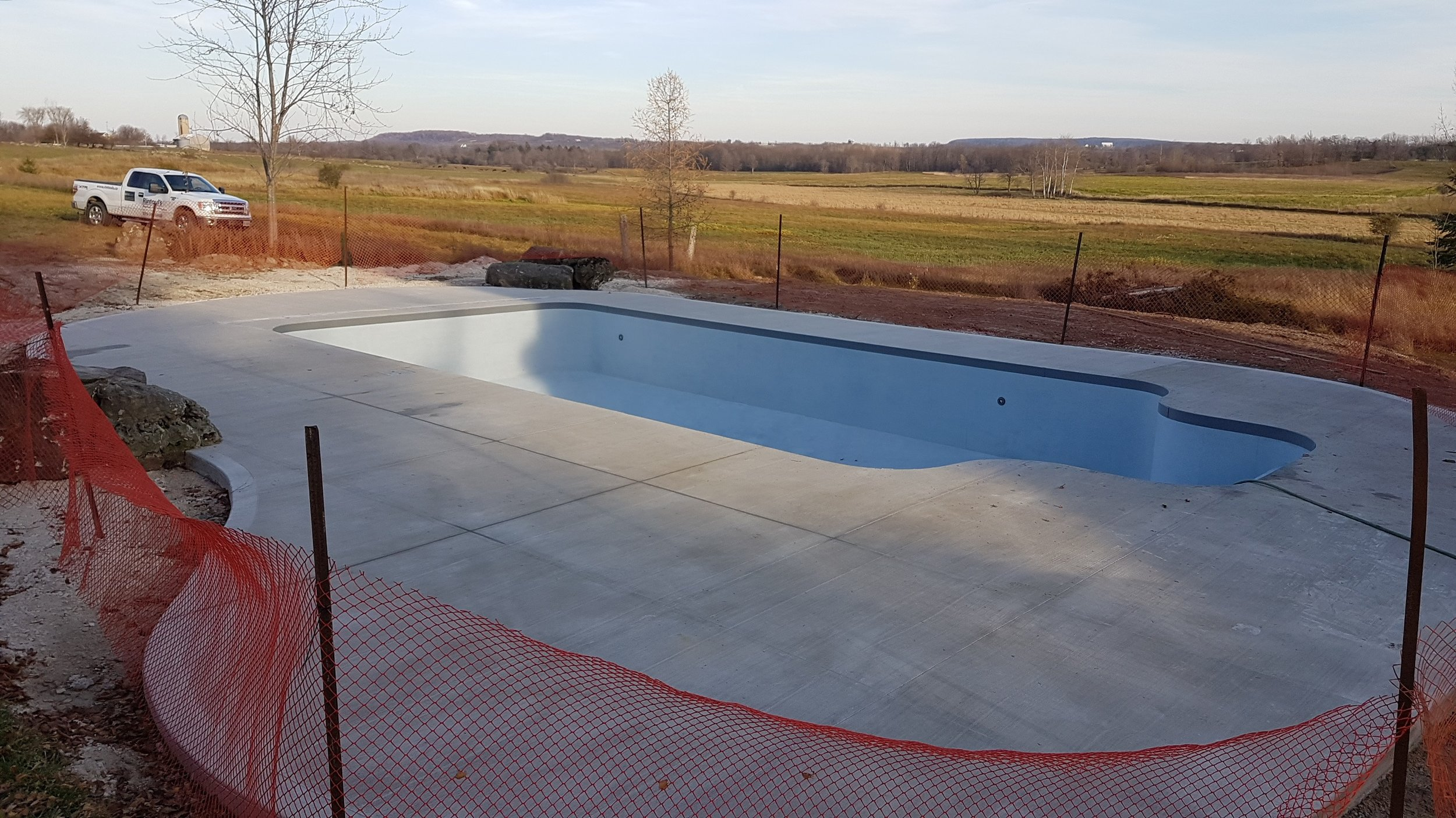 First Alpha One Composite Panel Pool with ecoFinish in Canada...well done!