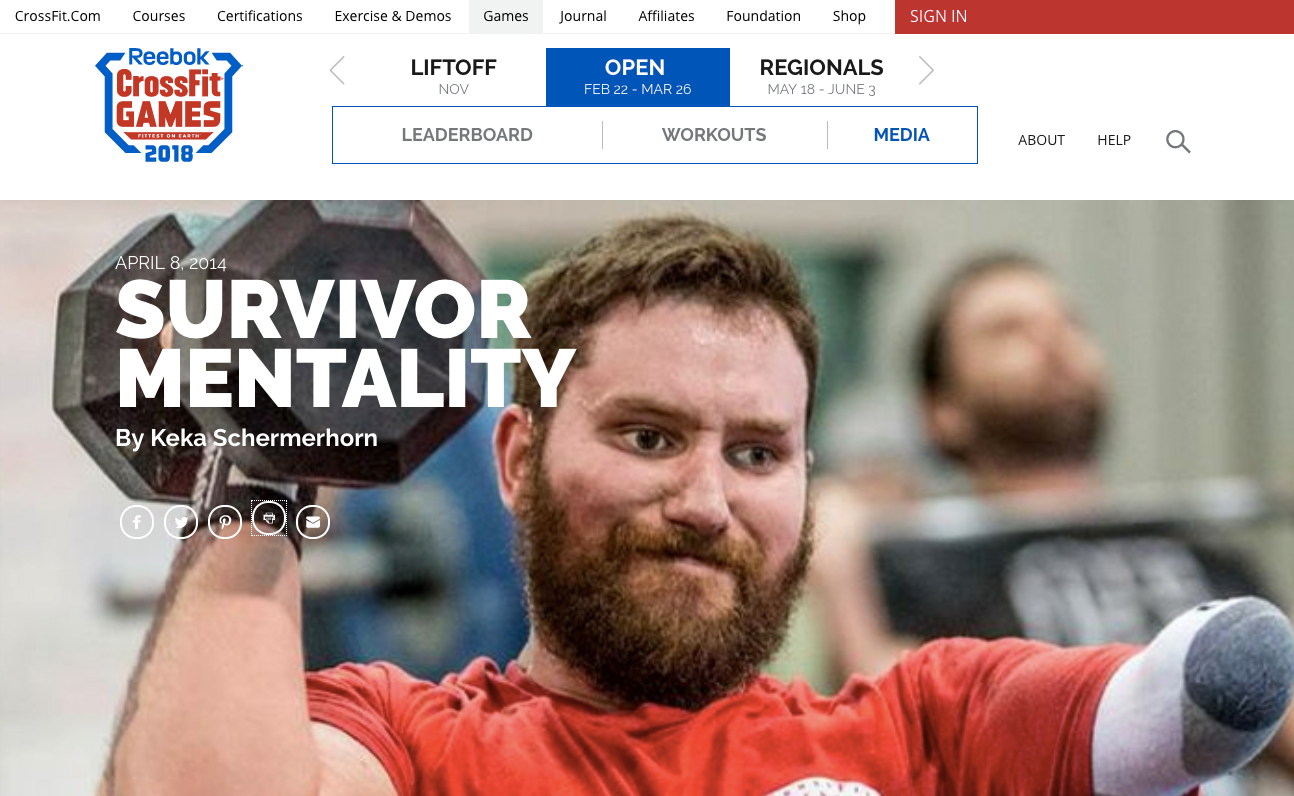 Head Writer - North East - The CrossFit Games