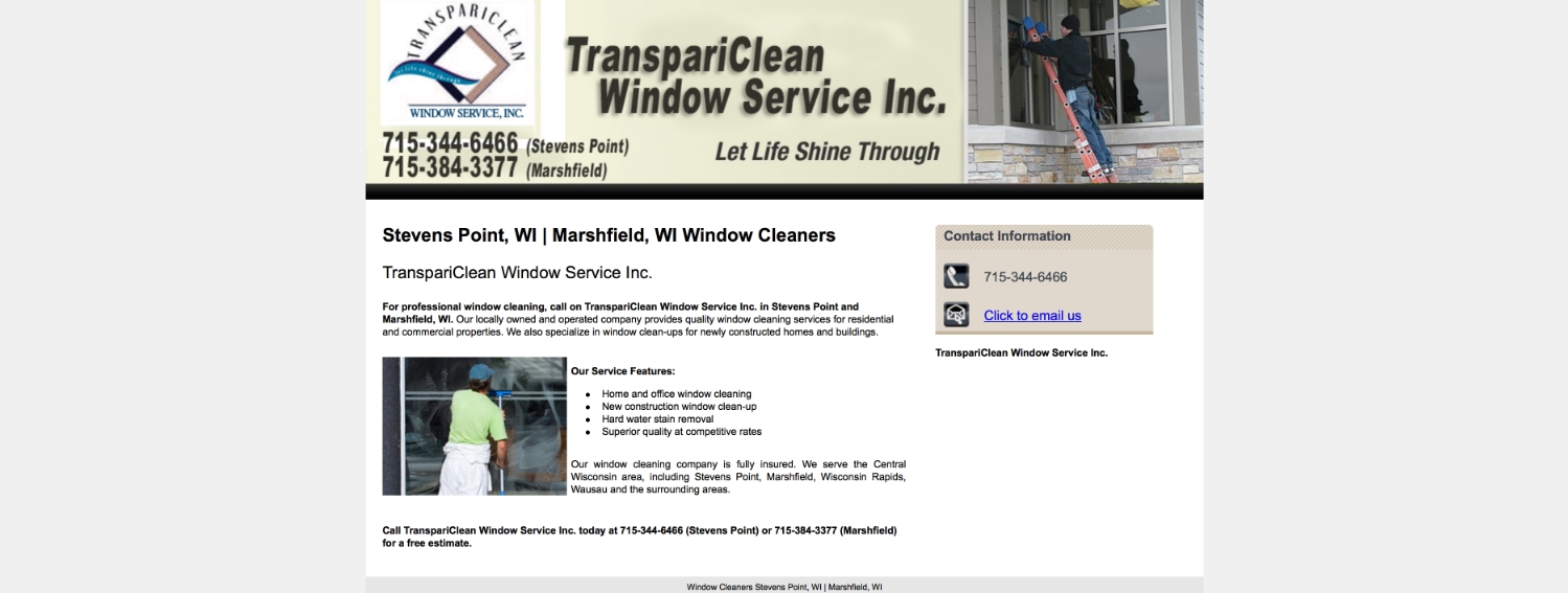 This photo is a screenshot showing what the website looked like before.