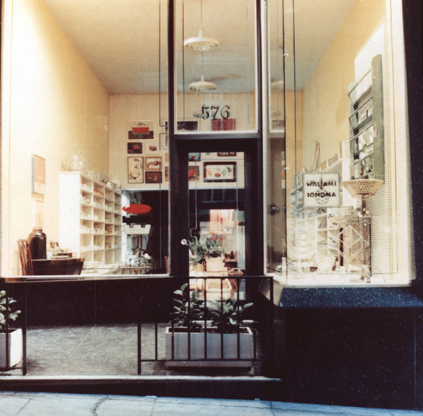 The first Williams Sonoma store in San Francisco.