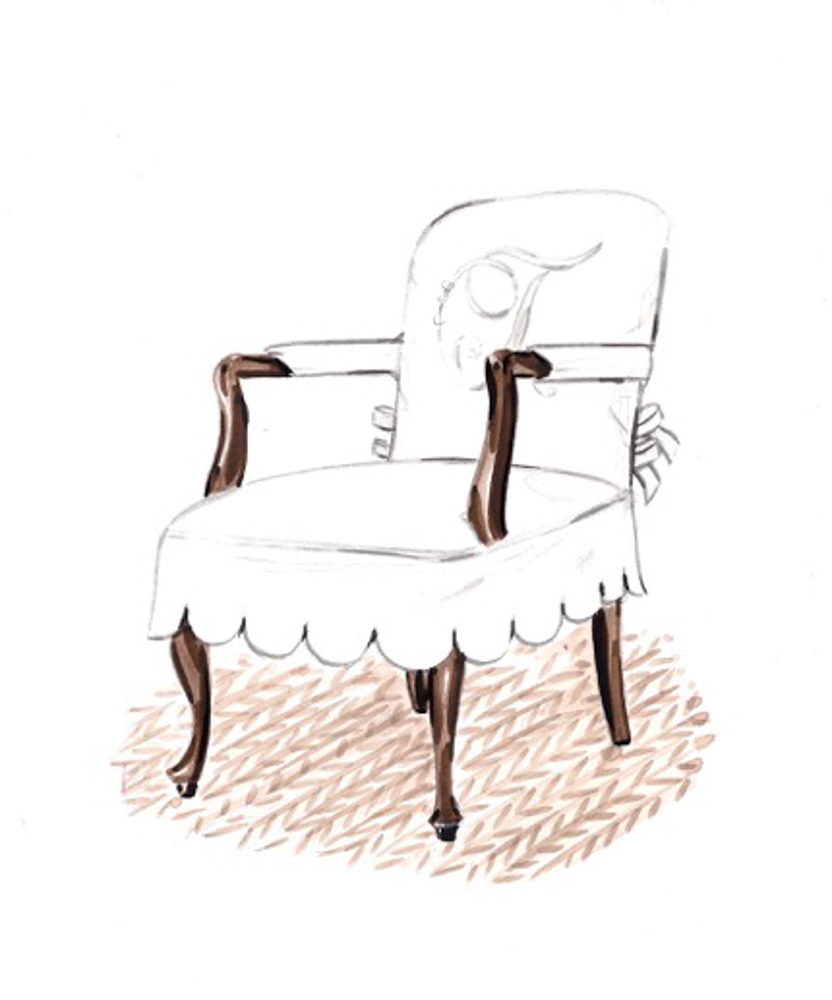 Castine Monogram Chair