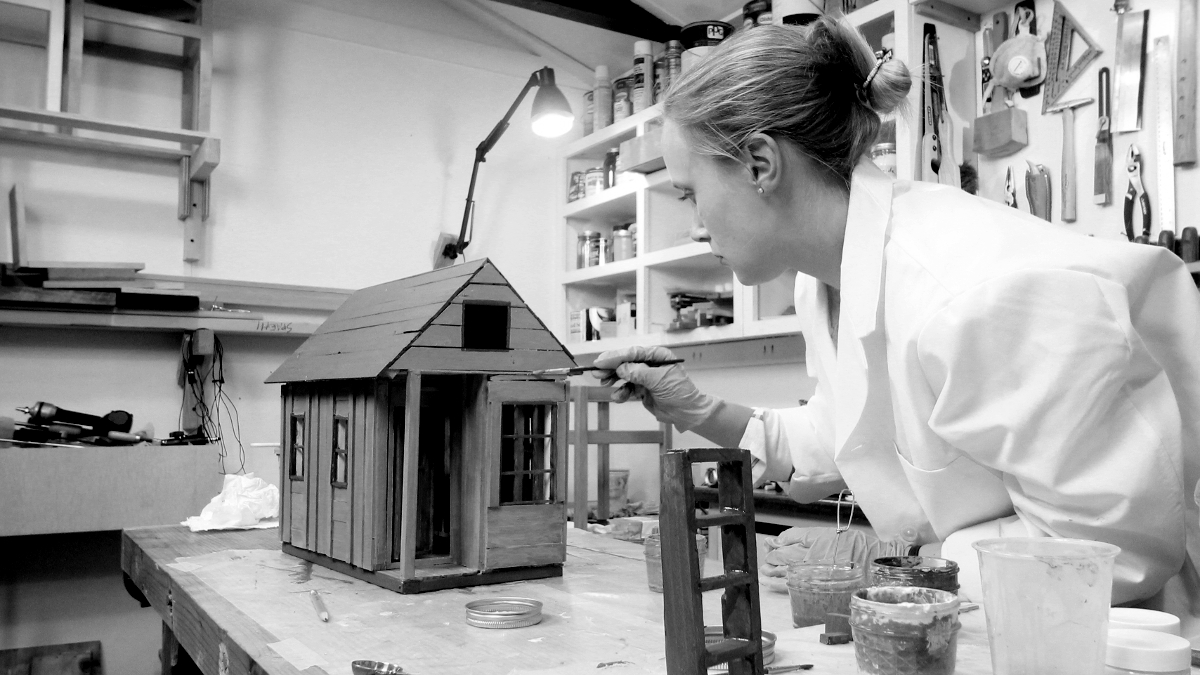 Using Milk Paint on the Tiny House.