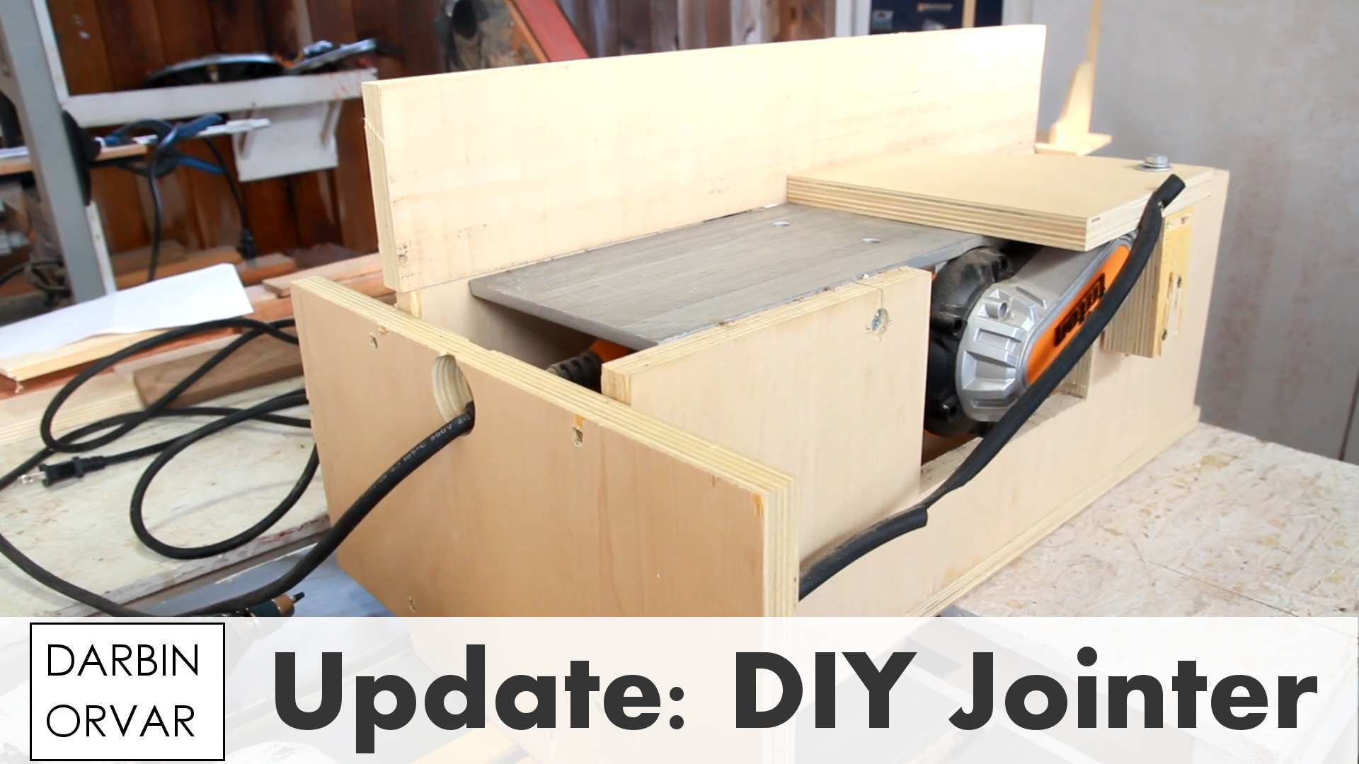 In this shop update I go over how I made my DIY jointer with a power planer, as well as mail time and some of my thoughts.