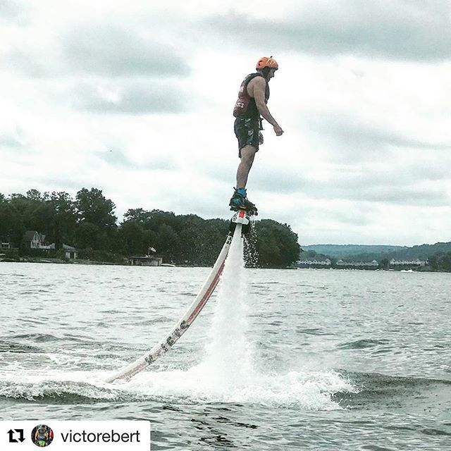 @victorebert earned his wings yesterday! #FlyHighFlightCrew #LakeHopatcong #Flyboard #Hydroflight #Jetblade