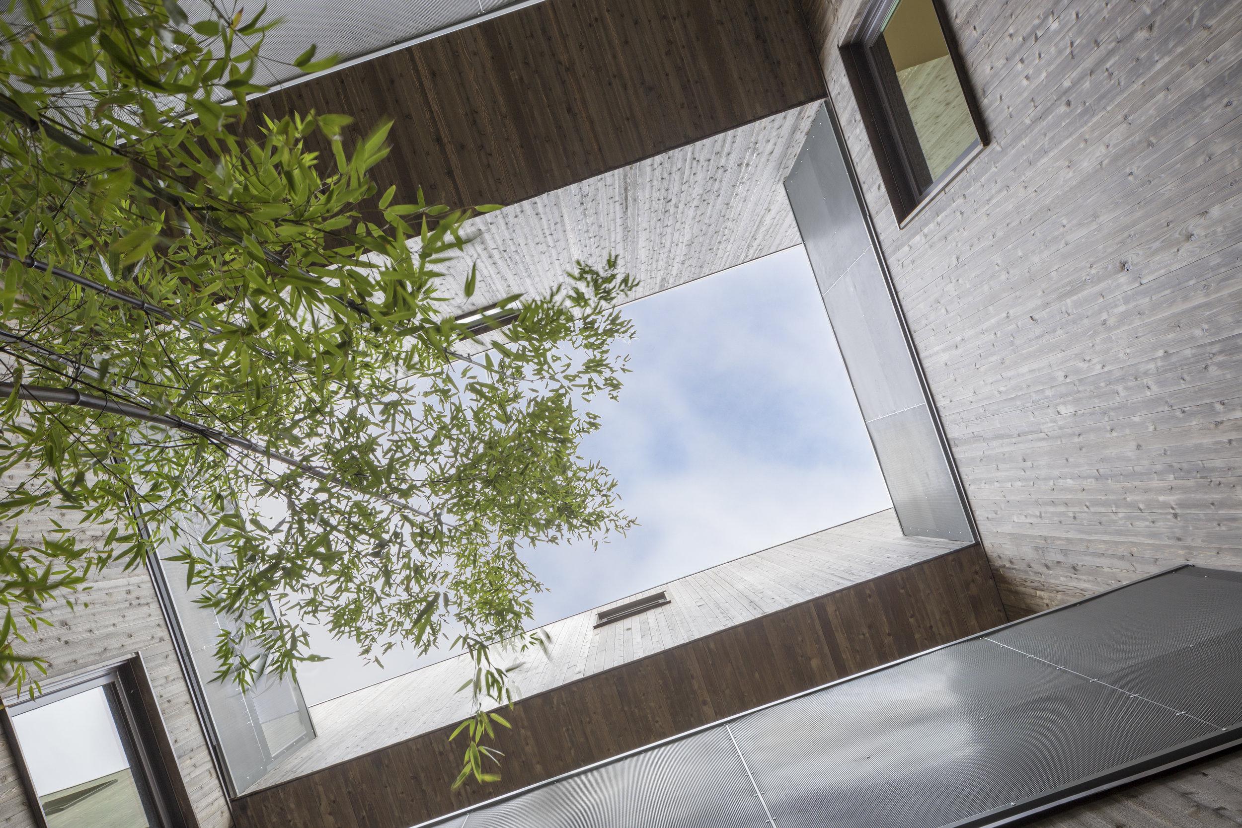 Doppleganger courtyard sky . WPA