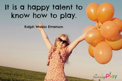 Happy talent to know how to play by Encourage Play