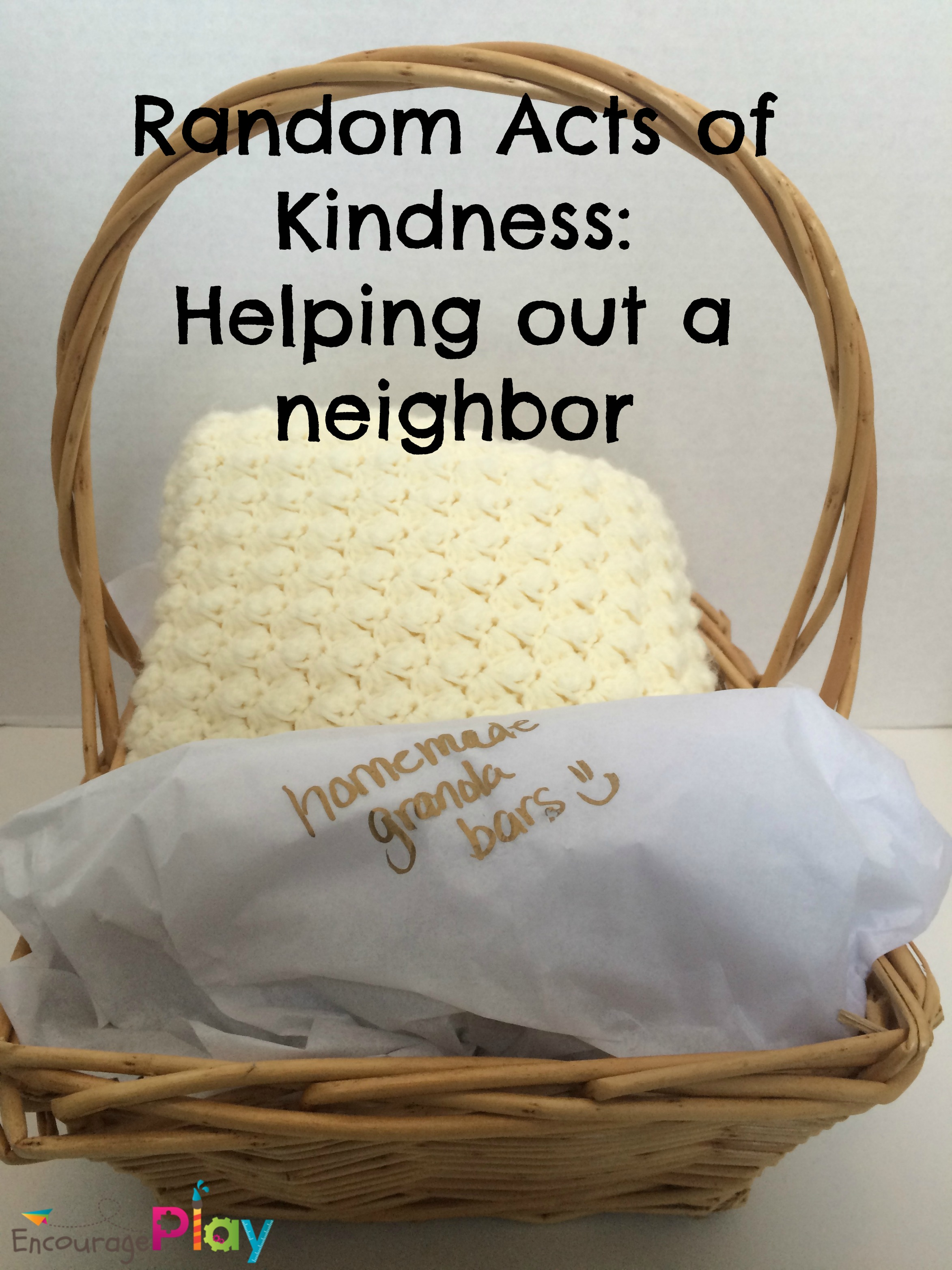 Random Acts of Kindness Helping a Neighbor by Encourage Play