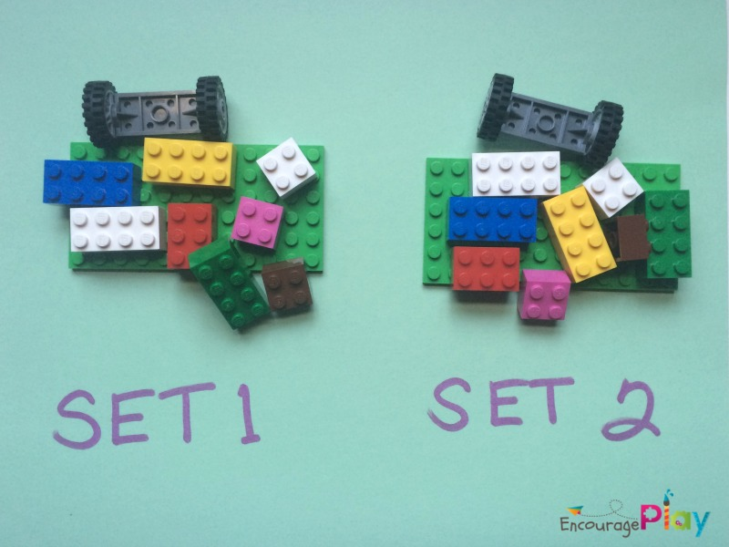 Two sets of Legos for Lego Persepective Challenge