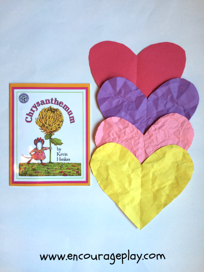 Chrysanthemum wrinkled heart activity from Encourage Play