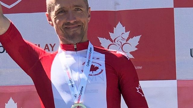 Jeffrey Werner, national champion. 🍁  Jeff continues to build on an amazing season with a win at the Masters National Championships Road Race. Dave Gerth attacked a whittled-down field with half a kilometer to go drawing out the field to set Jeff up for the win.
