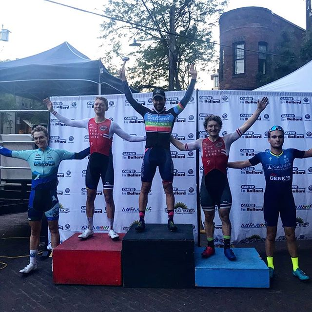 While the Masters racers were busy scooping up National Champs jerseys, our elite squad was working crits. @half_decent_ won #ballard2019 in heroic fashion, and @patrick_riddell took 2nd in today's #robertcameron crit! - #langloisbrown @thaaschocolates @climbbase5gym @precisionhydration @jakroocanada @jonathandwood  #bornNA @pacificcoastalair @pocsports #eastoncycling