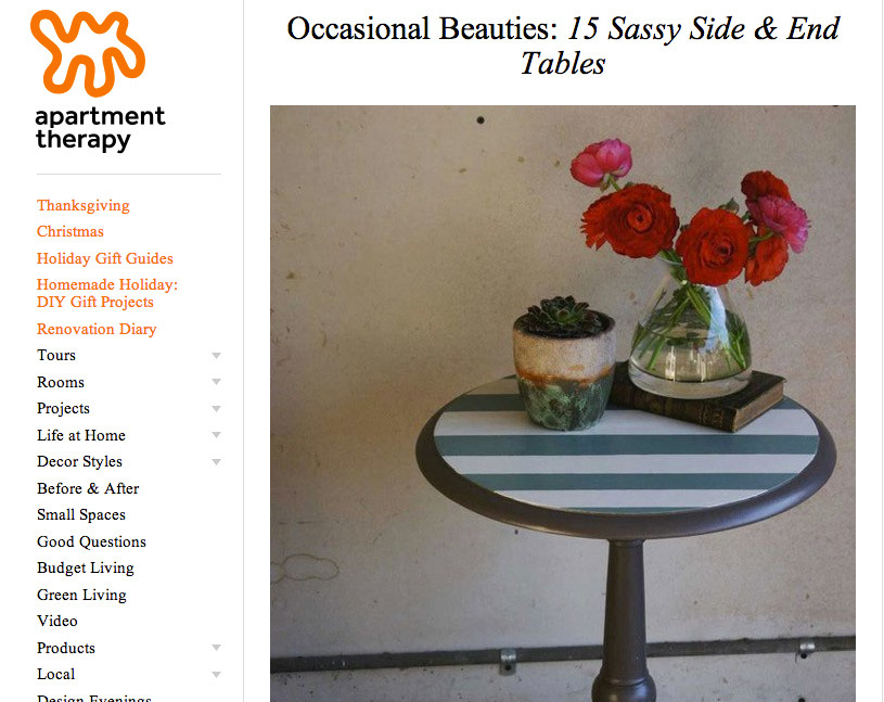 Apartment Therapy: Occasional Beauties
