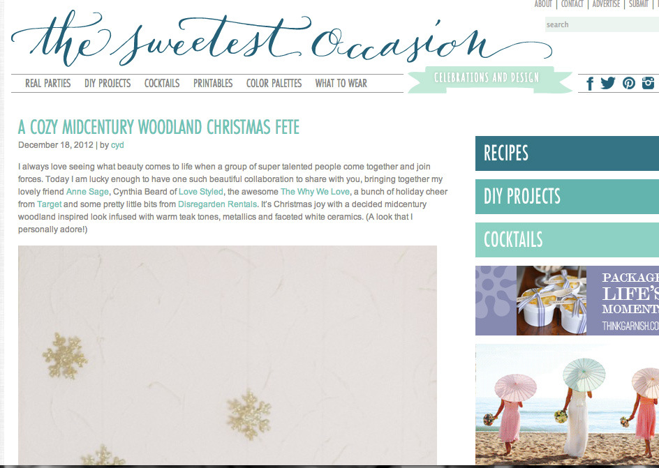 The Sweetest Occasion Blog: Woodland Christmas