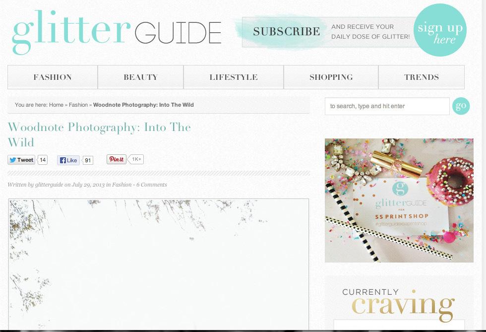 Glitter Guide: Zebra Photoshoot