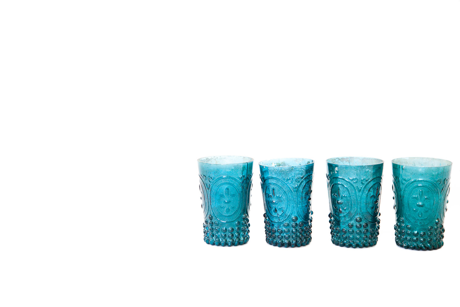 (V-040) BLUE MERCURY GLASS COLLECTION