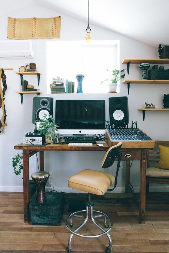Apartment Therapy || Interior Design:  Recording Studio Home Tour