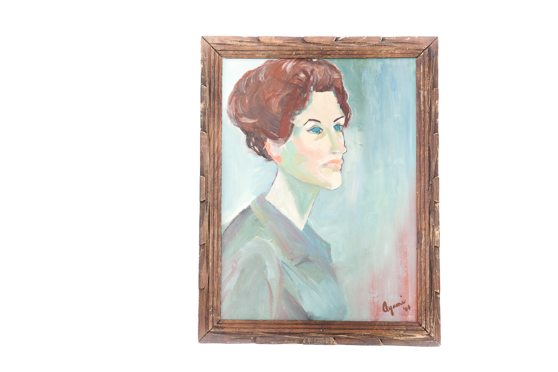 (F-062) PORTRAIT OF WOMAN, '64