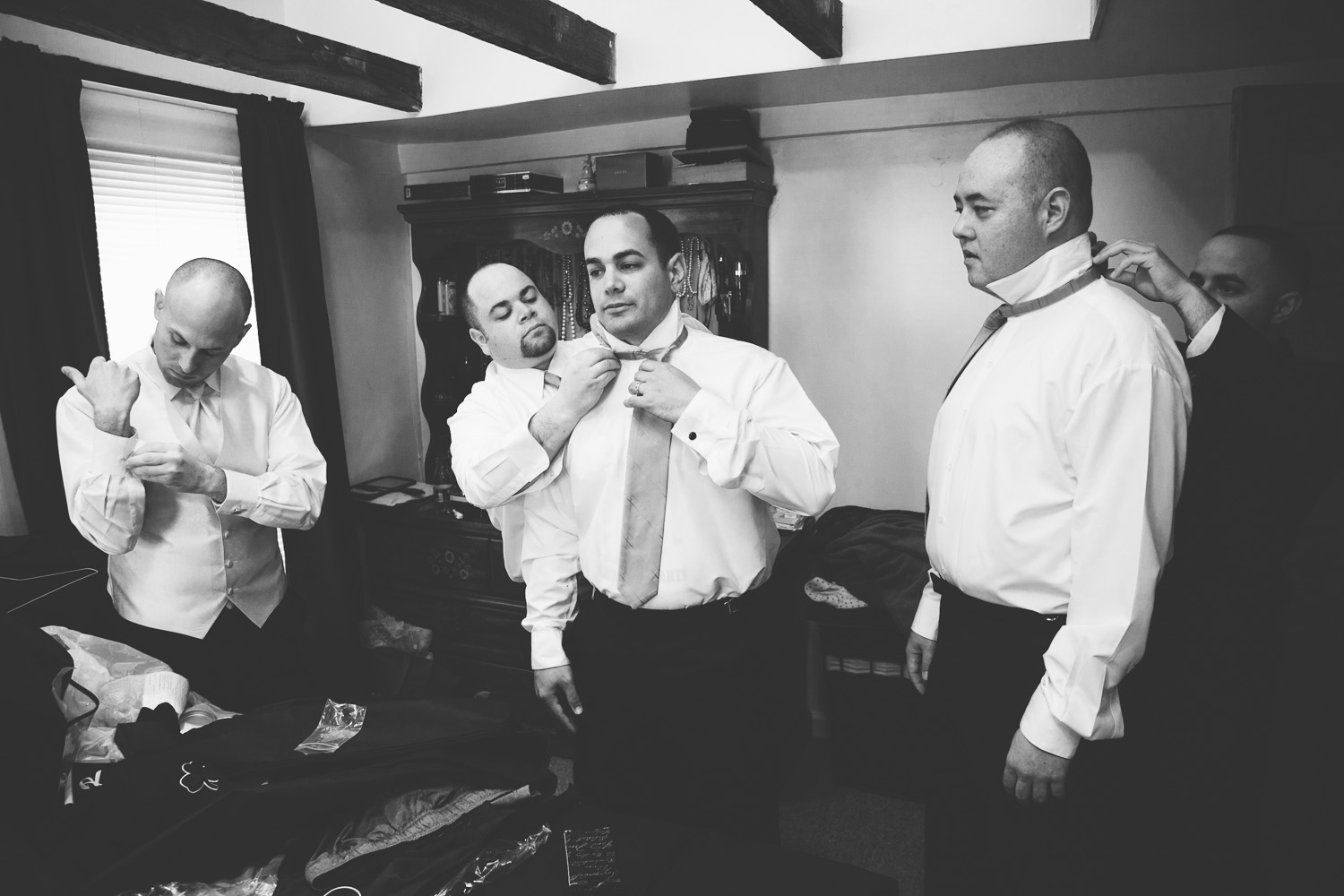 wedding groom preparations