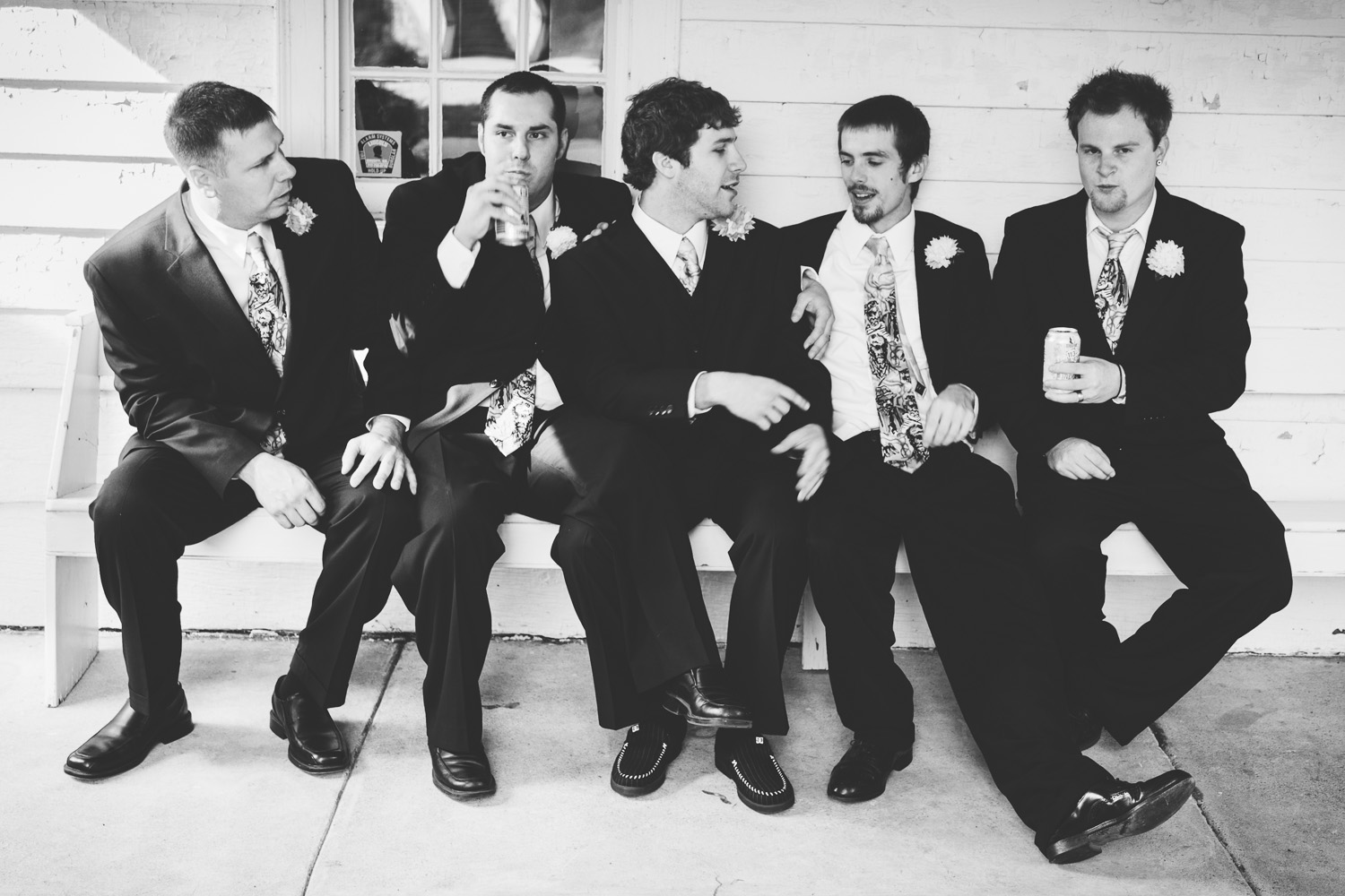 groomsmen candid group shot
