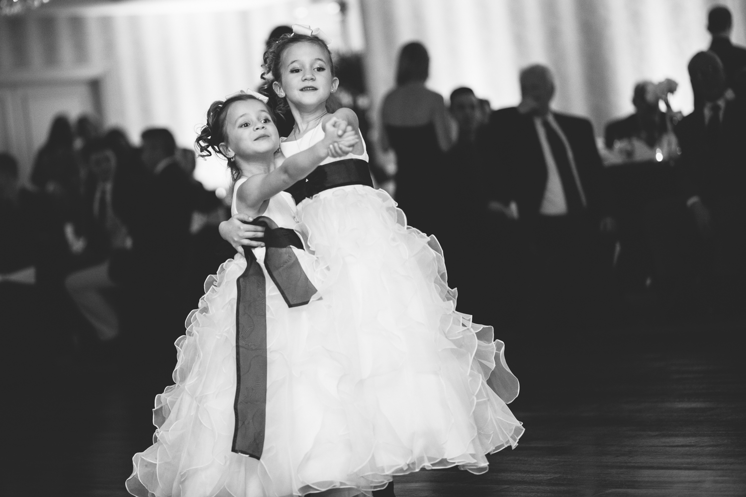 wedding reception flower girls dance, sterling ballroom, eatontown, nj