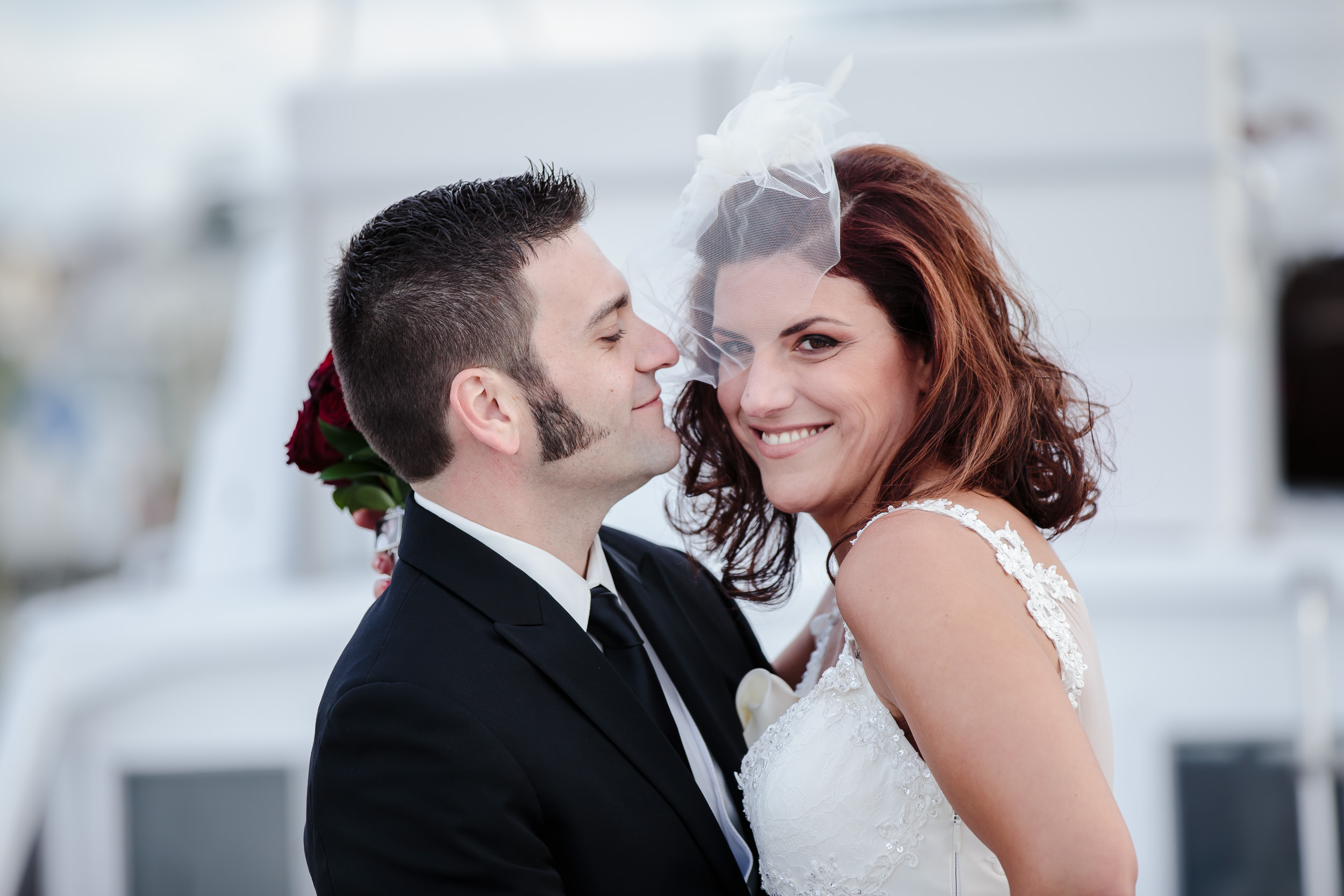 wedding portrait bride groom crystal point yacht club brick nj