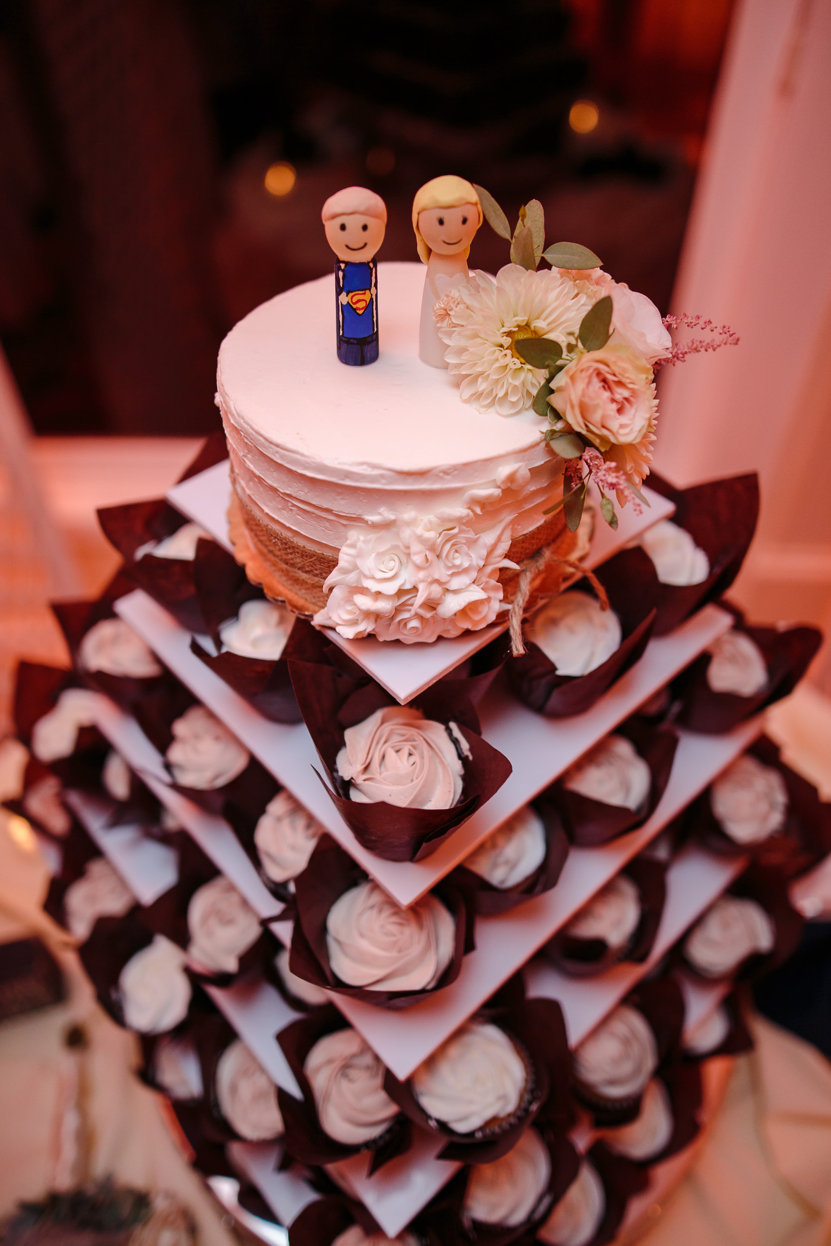 wedding cup cake detail