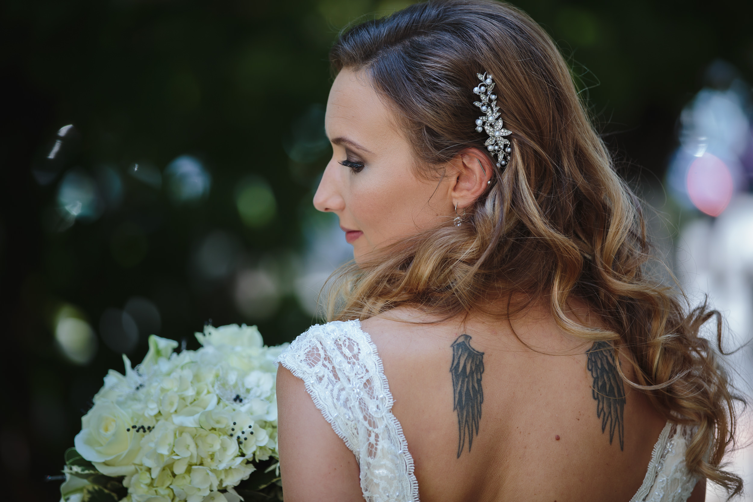 wedding bride portrait beauty shot courtyard on main banquet freehold nj