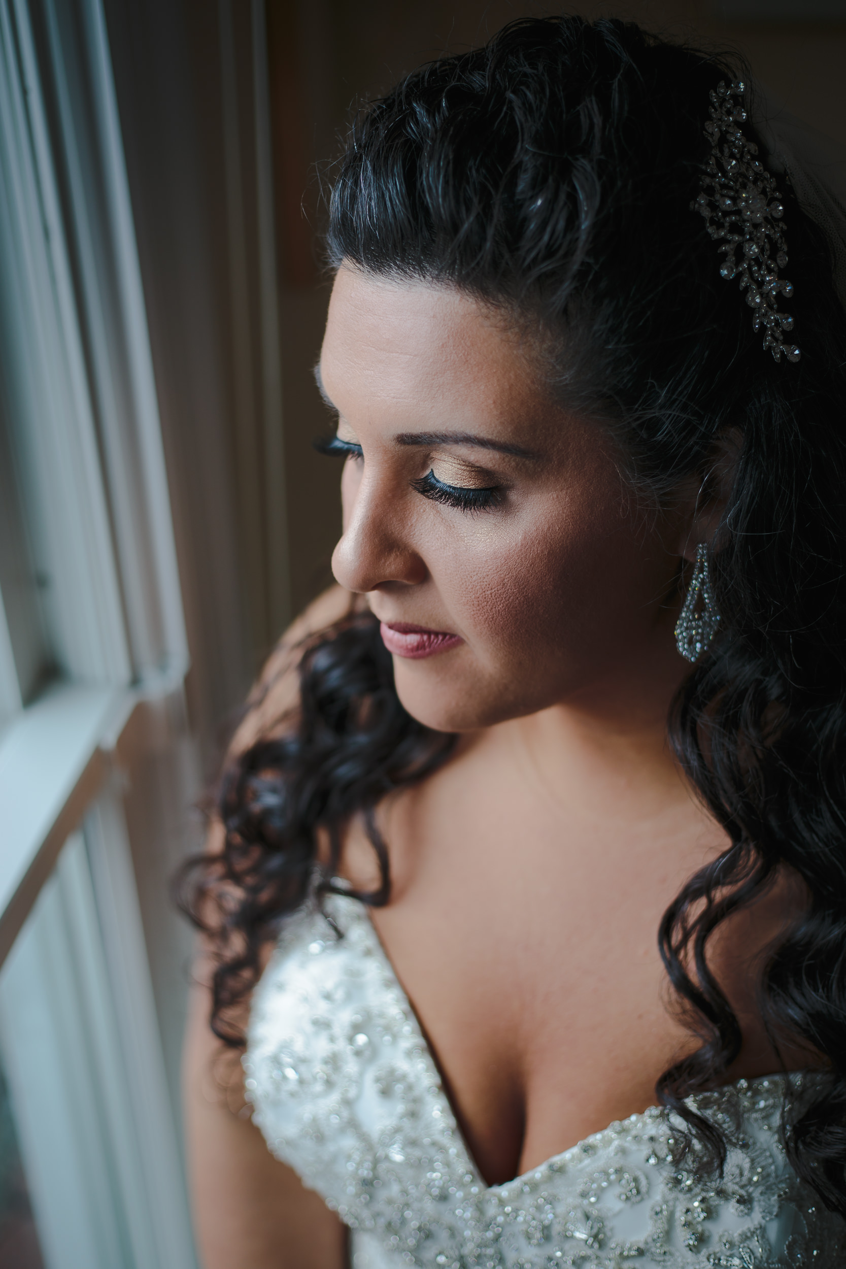 wedding bride portrait beauty shot
