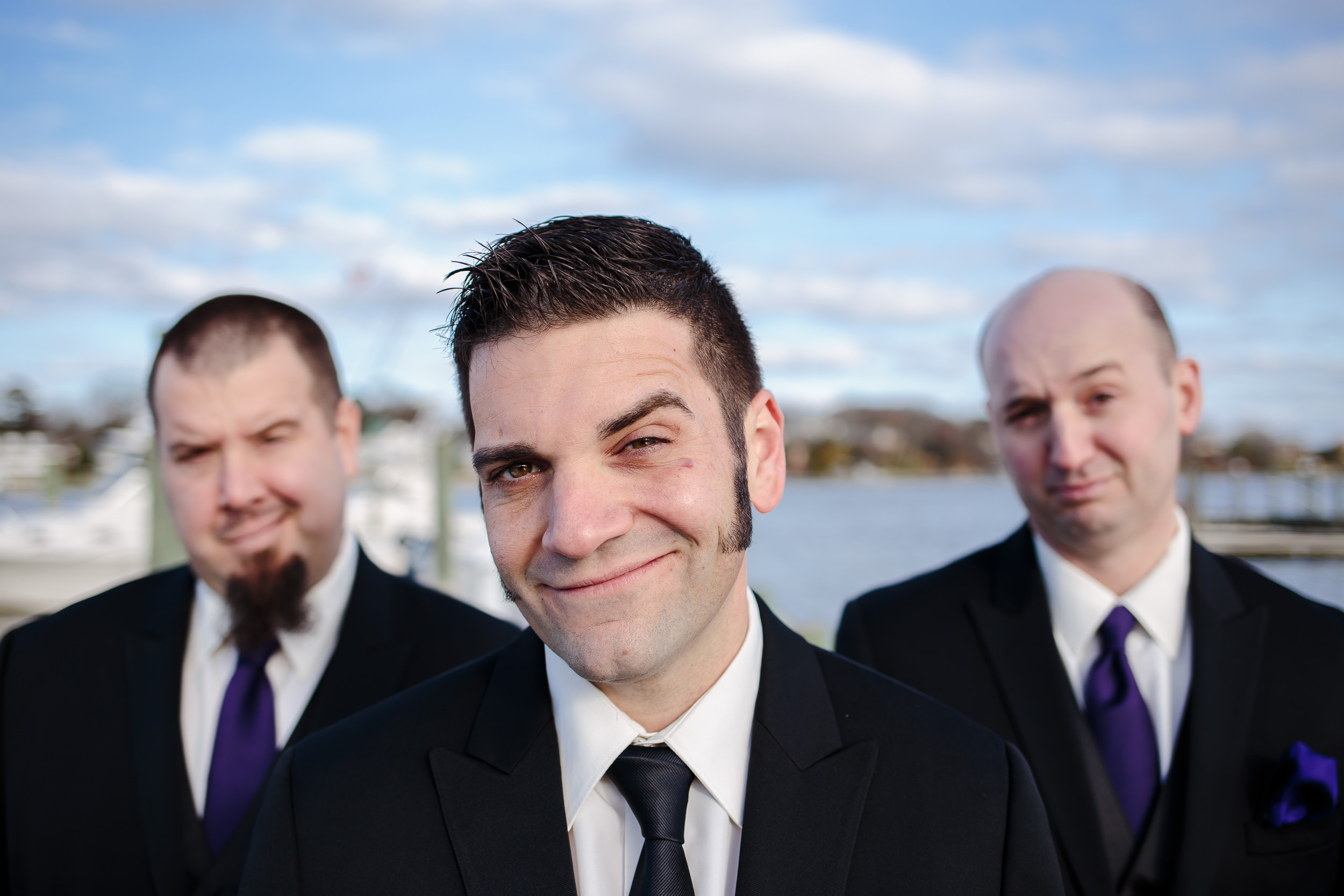 wedding groom grooms men portrait group shot crystal point yacht club brick nj