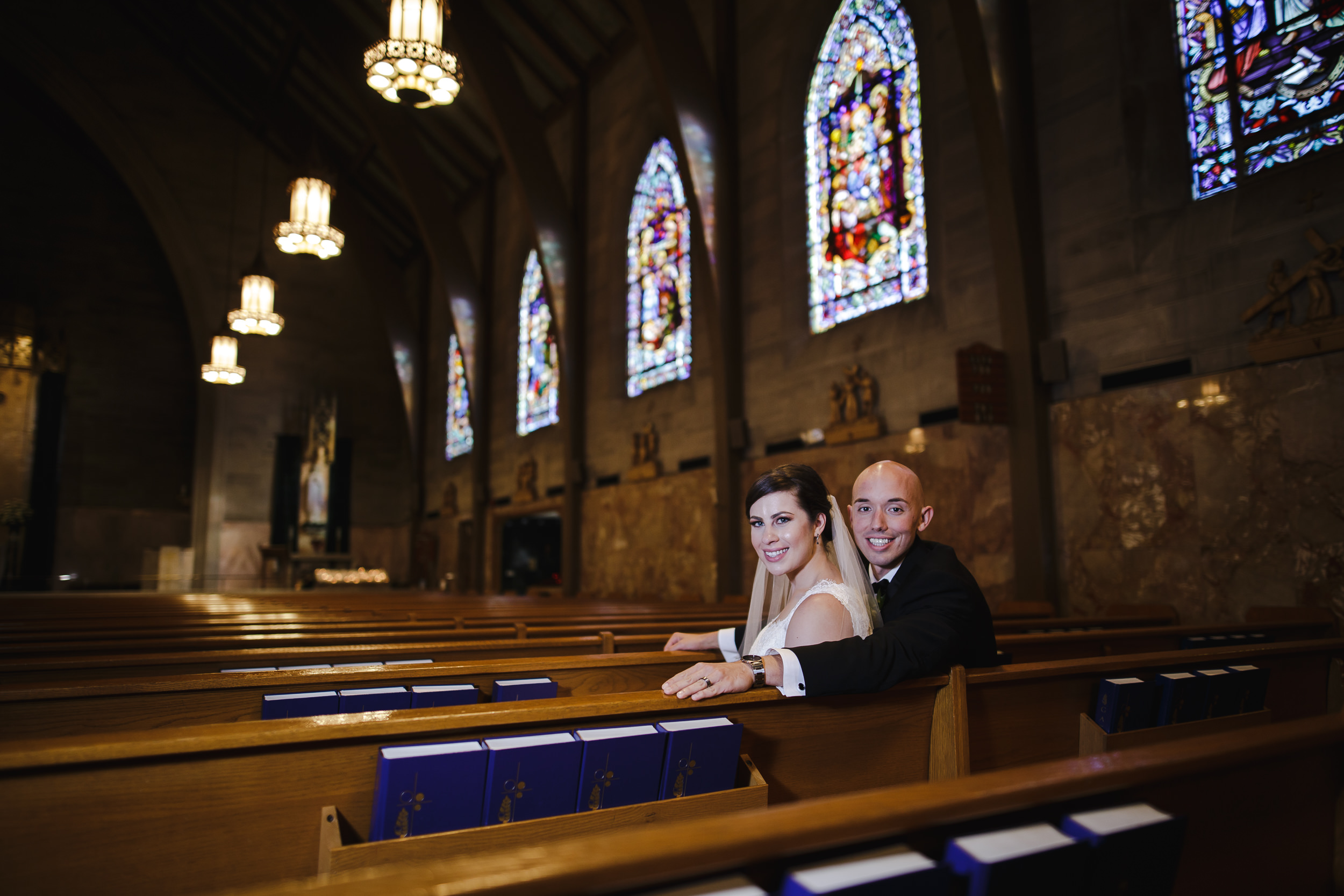 wedding portrait bride groom St. Francis of Assisi Cathedral metuchen nj