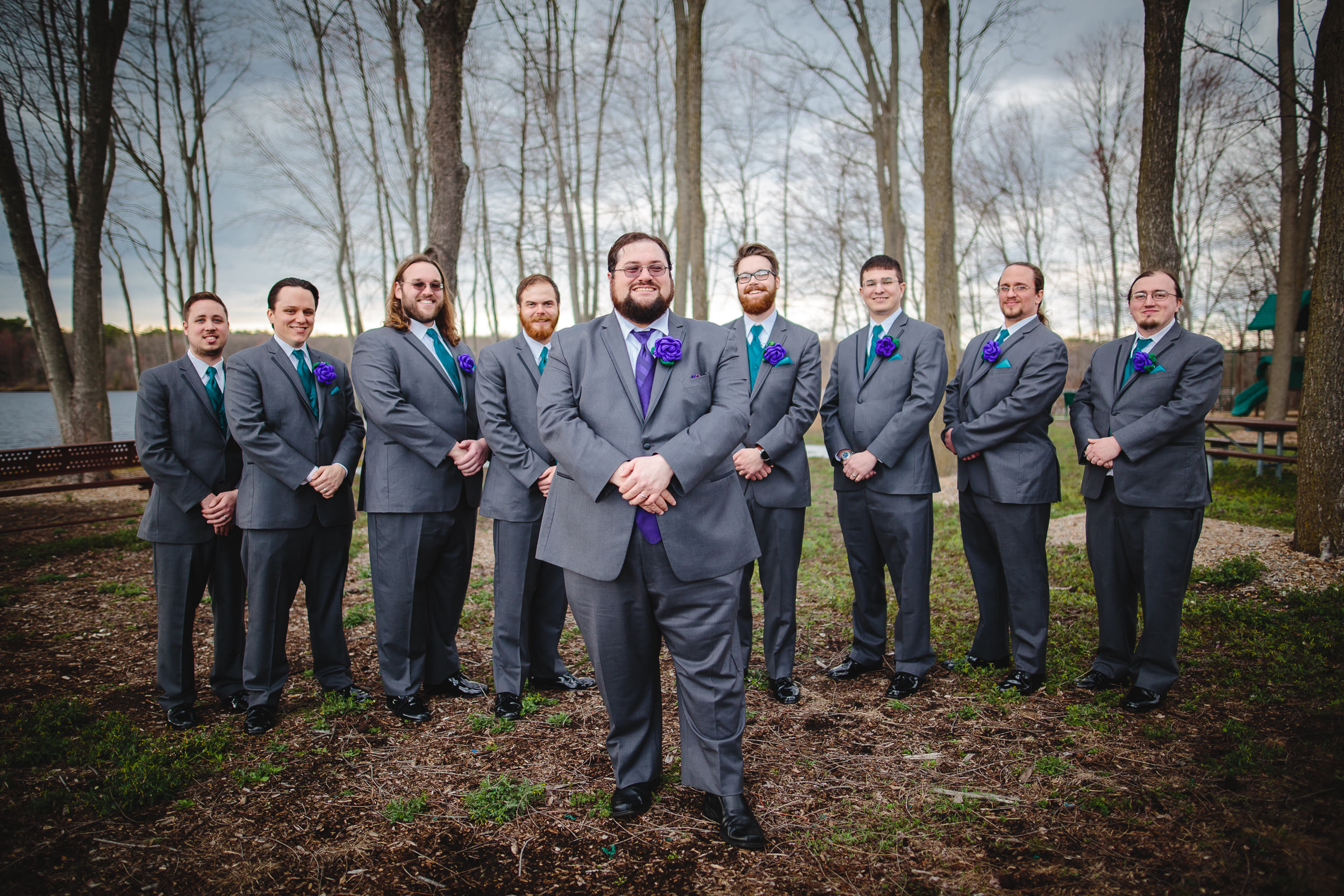 wedding groom grooms men portrait group shot jamesburg park nj