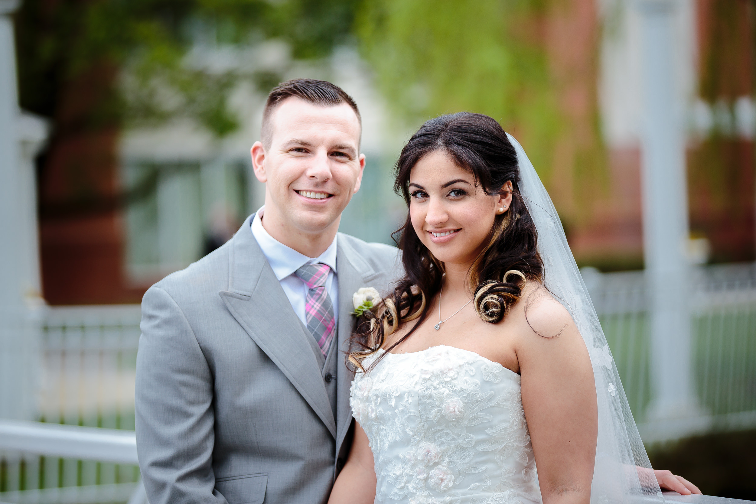 wedding portrait bride groom mansion on main voorhees nj