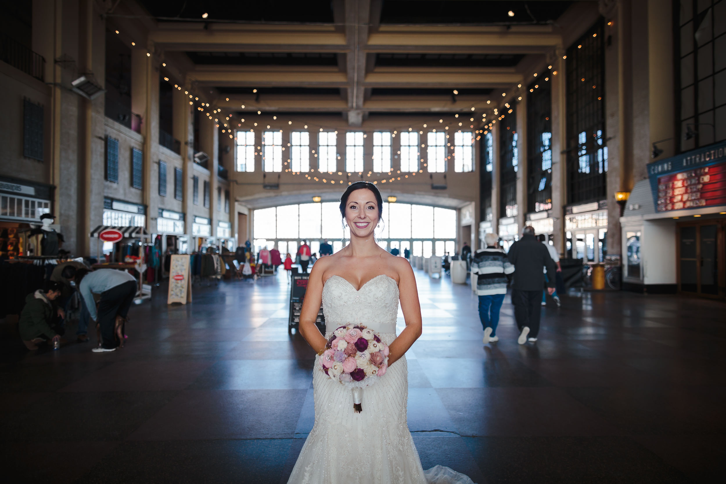 bride portrait, convention hall, asbury park, nj