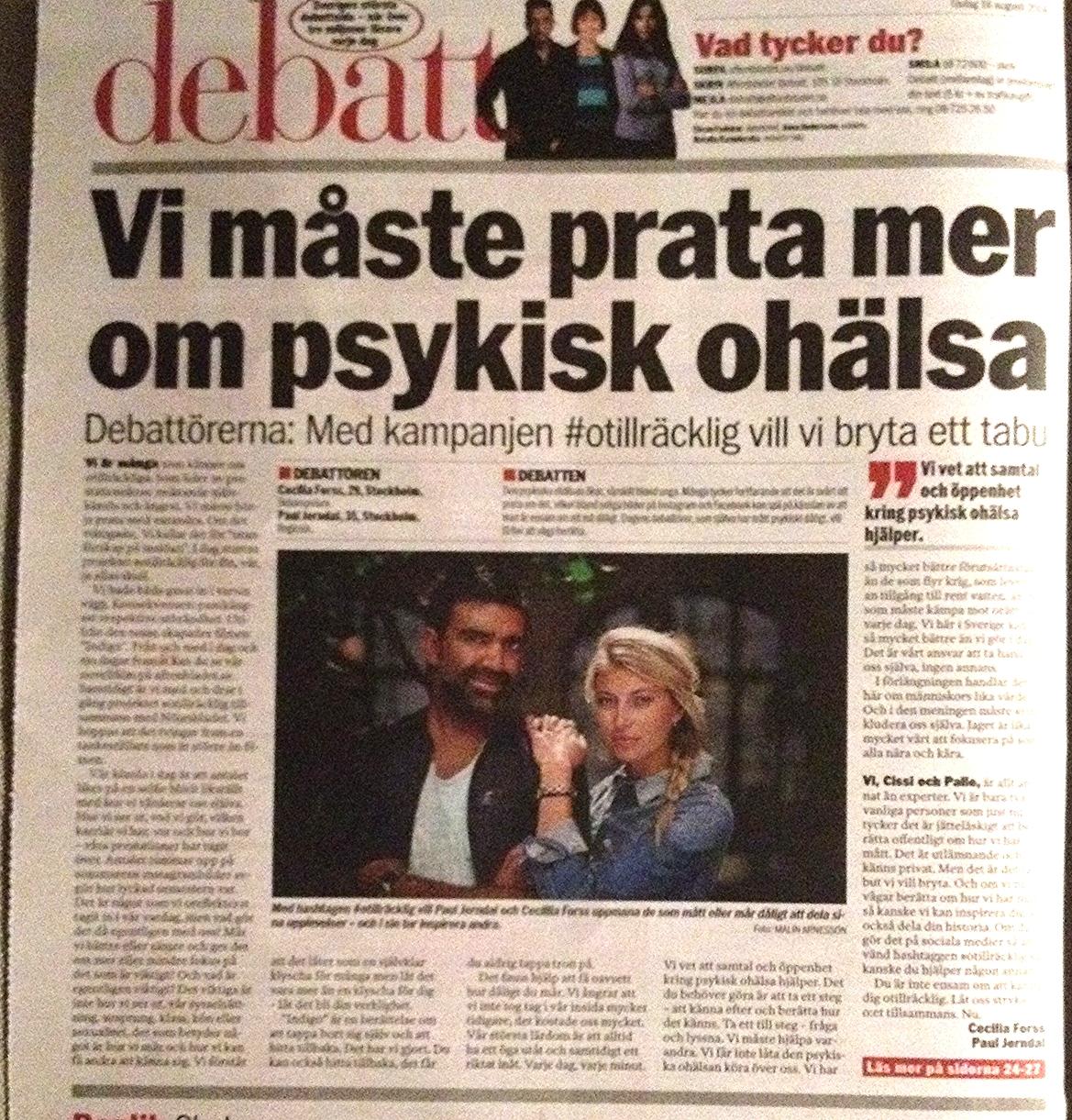 Debattartikel i Aftonbladet