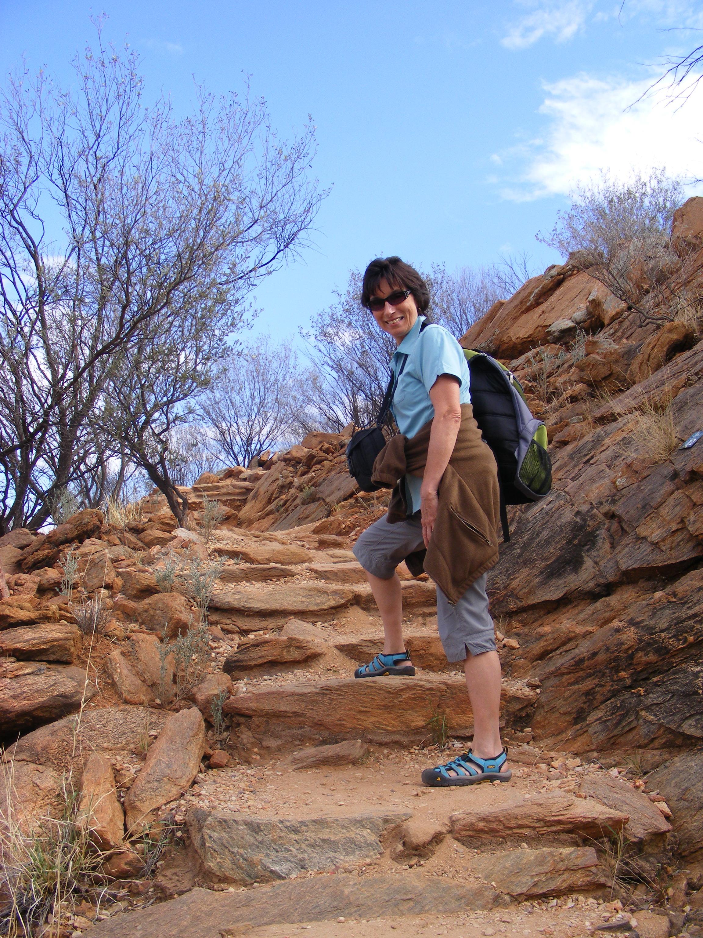 Kris and I hiking